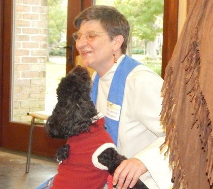 Rev. Jennie with dog