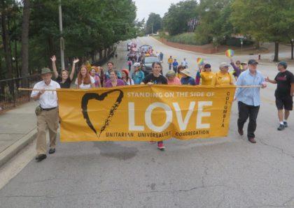 Love banner at Pride Parade
