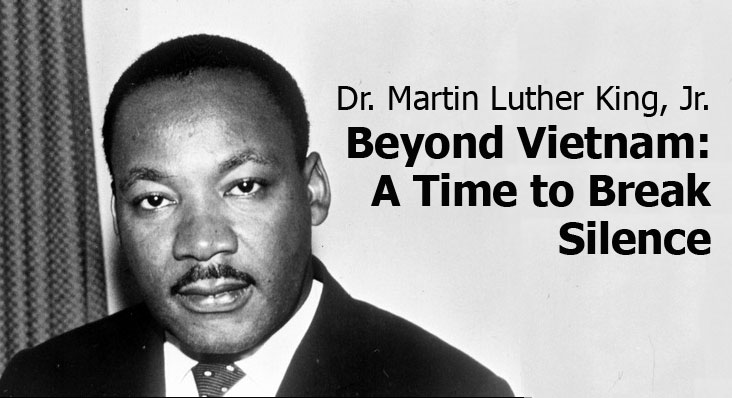 martin luther kings purpose in his speech beyond vietnam a time to break silence