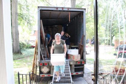 unloading Liebmann's truck