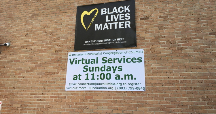 VirtualServices Banner on side of building