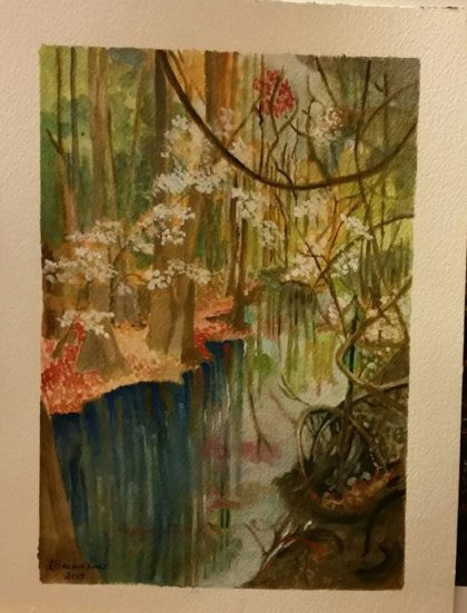 Congaree National Forest Painting