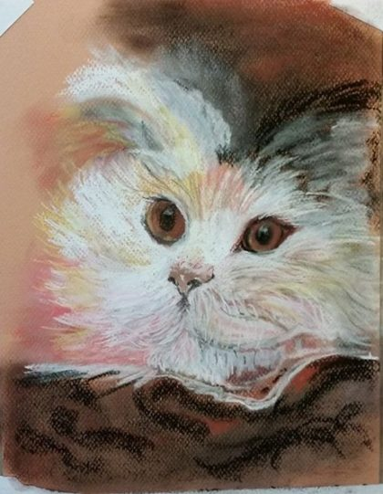 Fluffy Kitty Painting