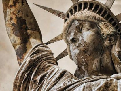 Decaying Statue of Liberty