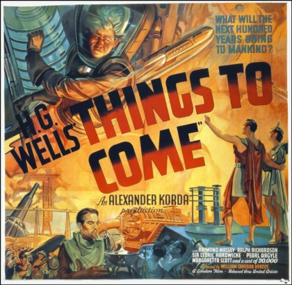 H G Wells Things to Come poster