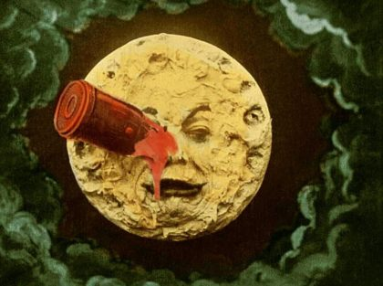 H G Wells Trip to the Moon poster