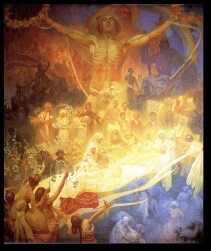 Spiritual Art Nouveau Painting