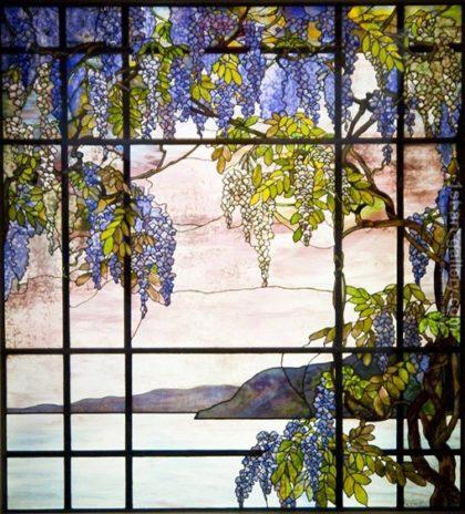 Tiffany Glass Water Scene
