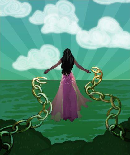 Woman Breaking Chain