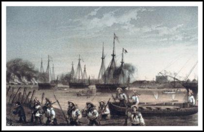 British ships arriving at Taku, China