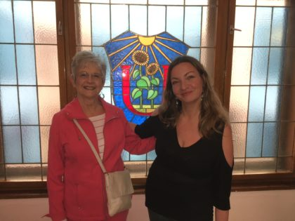 Linda McLeod with UU Minister in Prague