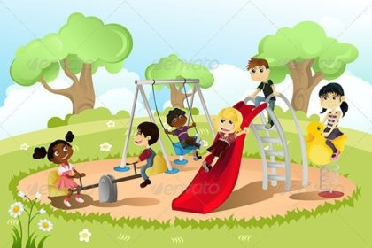 Picture of children on playground