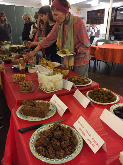 Animal Ministry Potluck table