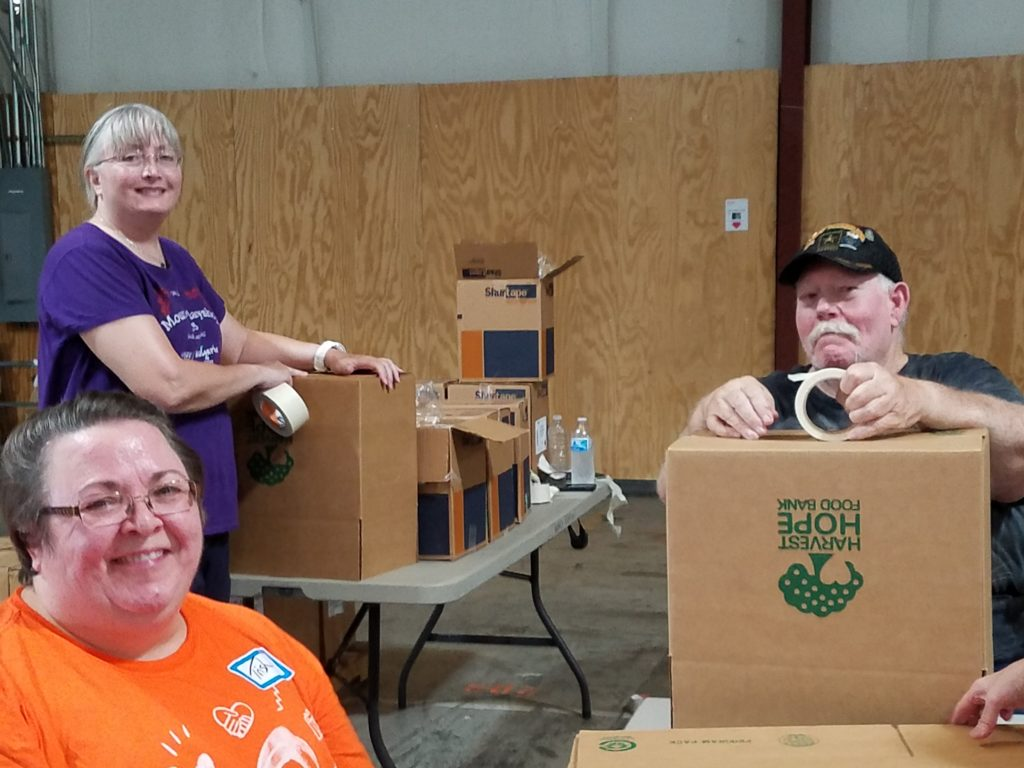 harvest hope food bank Volunteers