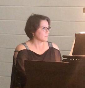 Anna Hamilton at piano