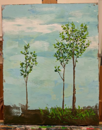 Kate Heald's Trees painting