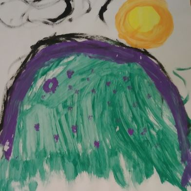 Child's greetin painting