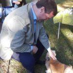 Rev Stephen blessing animals